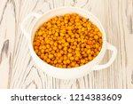 sea buckthorn autumn berry in... | Shutterstock . vector #1214383609