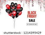 black friday sale poster with... | Shutterstock .eps vector #1214395429