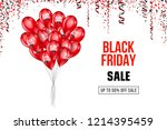 black friday sale poster with... | Shutterstock .eps vector #1214395459