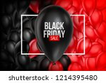 black friday sale poster with... | Shutterstock .eps vector #1214395480