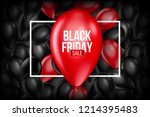 black friday sale poster with...   Shutterstock .eps vector #1214395483