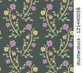 seamless floral pattern with... | Shutterstock .eps vector #121440058