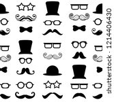 mustaches vector seamless... | Shutterstock .eps vector #1214406430