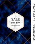 sale banner with dark blue... | Shutterstock .eps vector #1214416969