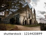 st. albans cathedral.... | Shutterstock . vector #1214420899
