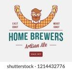 beer home brewers is a vector...   Shutterstock .eps vector #1214432776