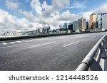 high speed road and hongkong... | Shutterstock . vector #1214448526