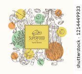 background with super food ... | Shutterstock .eps vector #1214449933