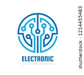 electronic technology   vector... | Shutterstock .eps vector #1214455483