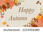 autumn background layout... | Shutterstock .eps vector #1214456380