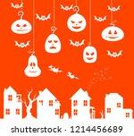 cursed city vector halloween...   Shutterstock .eps vector #1214456689