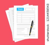 tax form. financial document... | Shutterstock .eps vector #1214458543