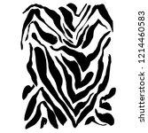 brush painted zebra pattern.... | Shutterstock .eps vector #1214460583