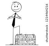 cartoon stick drawing... | Shutterstock .eps vector #1214464216