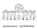 cartoon stick drawing... | Shutterstock .eps vector #1214464246