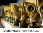 gas masks in a line reminding... | Shutterstock . vector #1214464669
