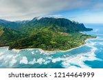 napali coast on kauai  hawaii | Shutterstock . vector #1214464999