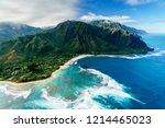 napali coast on kauai  hawaii | Shutterstock . vector #1214465023