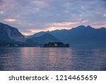 maggiore lake sunset landscape  ... | Shutterstock . vector #1214465659