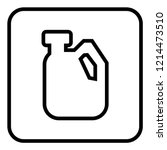 gallon icon vector. | Shutterstock .eps vector #1214473510