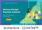 flat design concept on business ...   Shutterstock .eps vector #1214476879