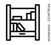 bookshelf icon outline | Shutterstock . vector #1214478166