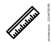 ruler icon outline | Shutterstock . vector #1214478190