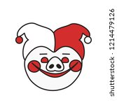 emoji with smiling circus... | Shutterstock .eps vector #1214479126