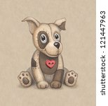 Cute Dog Toy Illustration....