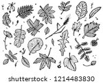 black and white drawing of... | Shutterstock .eps vector #1214483830