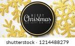 christmas banner. snowflakes of ... | Shutterstock .eps vector #1214488279