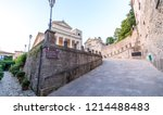 streets and buildings of san... | Shutterstock . vector #1214488483