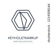 keyhole markup language icon.... | Shutterstock .eps vector #1214508166
