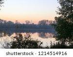 summer landscape pink and... | Shutterstock . vector #1214514916