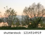 summer landscape pink and... | Shutterstock . vector #1214514919