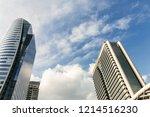 modern glass buildings office ... | Shutterstock . vector #1214516230