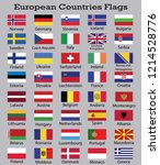 european countries flags with... | Shutterstock .eps vector #1214528776
