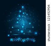 Abstract Technology Christmas...