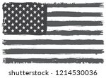 dirty american flag.vector... | Shutterstock .eps vector #1214530036