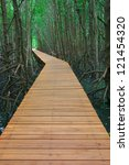 Wooden Walkway Through The...