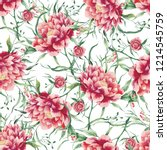 beautiful pattern with big... | Shutterstock . vector #1214545759