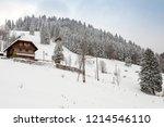 winter in schwarzwald. the...   Shutterstock . vector #1214546110