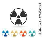 radioactive icon isolated on...   Shutterstock .eps vector #1214546143