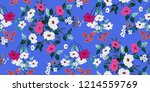 seamless floral pattern in... | Shutterstock .eps vector #1214559769