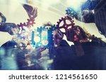 working group of businessmen...   Shutterstock . vector #1214561650