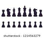 vector set of cartoon black... | Shutterstock .eps vector #1214563279