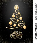 merry christmas greeting card... | Shutterstock .eps vector #1214567830