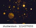 abstract blur gold sparkle... | Shutterstock . vector #1214579353