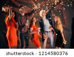 a group of friends are having... | Shutterstock . vector #1214580376