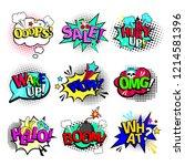 comic book texts. cartoon... | Shutterstock . vector #1214581396